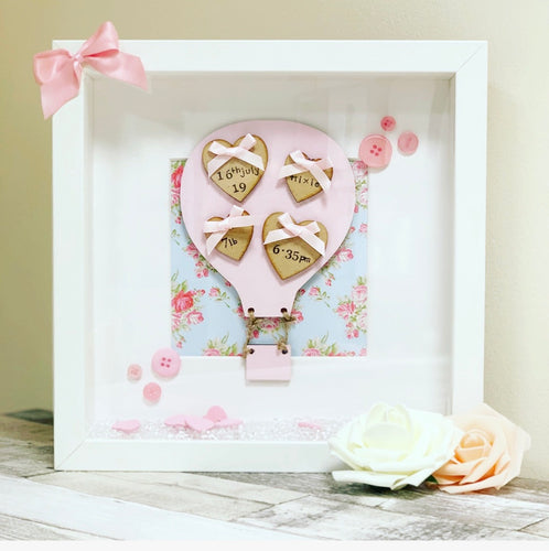 Hot Air Balloon Frame Pink - The Perfect Gift Co.