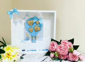 Hot Air Balloon Frame Blue