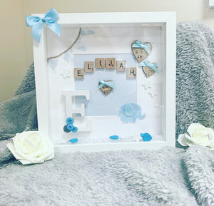 New Baby Arrival Frame Boy - The Perfect Gift Co.