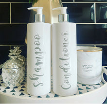 "Personalised Pump Bottle ""any wording"" (SILVER SKYE) - The Perfect Gift Co."