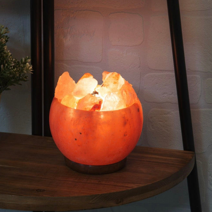 Himalyan Salt Rock Light Up Fire Bowl Decoration
