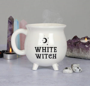 White witch Cauldron Mug / brew
