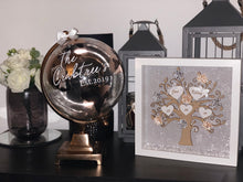 Personalised Vinyl Bronze/ gold Globe 30cm / World / Globes - The Perfect Gift Co.