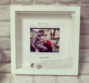 """Happy 60th Birthday"" Frame  (any milestone, leave at checkout) plain & simple - The Perfect Gift Co."