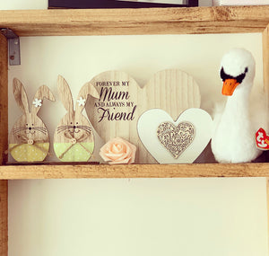 Freestanding double heart Mum plaque - The Perfect Gift Co.