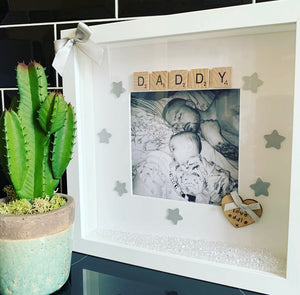 "Scrabble Art ""Daddy"" & Personalisation - The Perfect Gift Co."