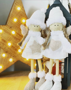 Freestanding Fabric Angels 2 pack - The Perfect Gift Co.