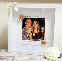 """Happy 50th Birthday"" Frame (any milestone, leave at checkout) fabric flowers"