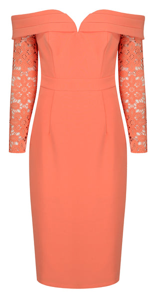 ALESSIA BARDOT SWEETHEART MIDI DRESS