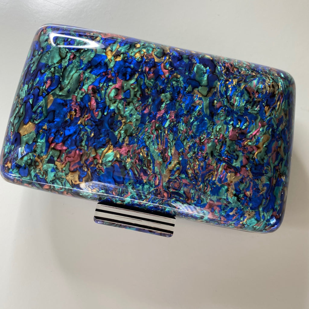 OPAL MULTICOLOUR ACRYLIC BOX CLUTCH