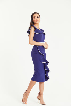 SANTANA FRILL SHOULDER DRESS