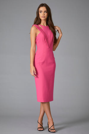 LANTANA MIDI DRESS - FUSCIA PINK