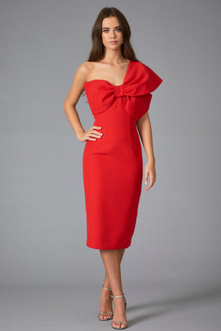 **PRE ORDER** RAPHELITE BOW DRESS - RED