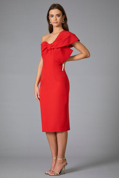 RAPHELITE BOW DRESS - RED
