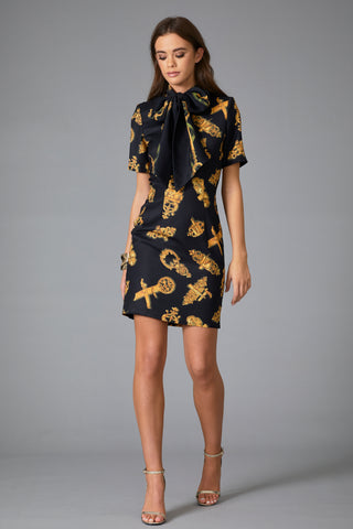 **PRE ORDER** DOLCE PRINT BOW MINI DRESS