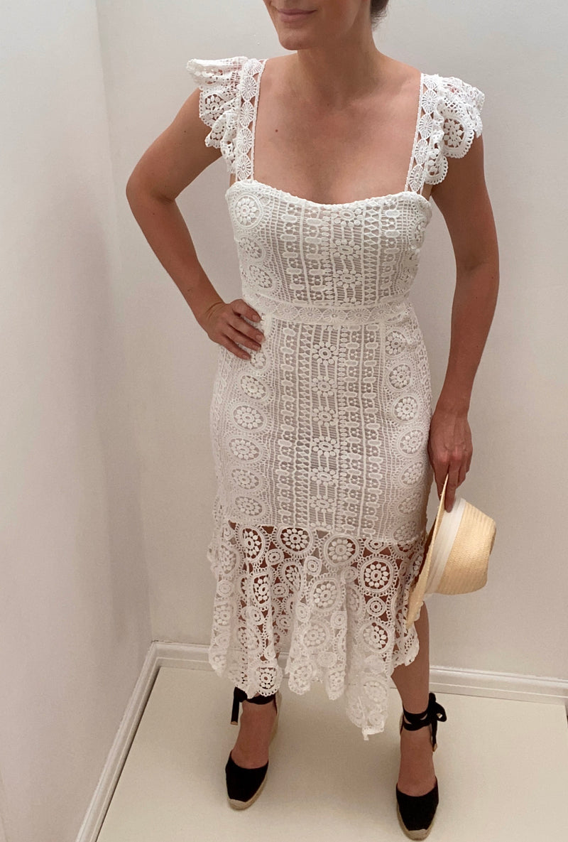 8TH SIGN SUMMER: SORRENTO CROCHET LACE MIDI