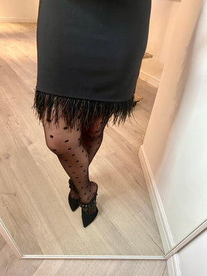 MAYFAIR FEATHER MINI SKIRT