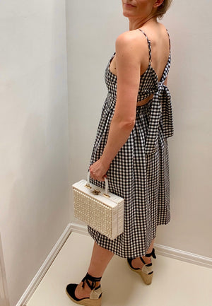8TH SIGN SUMMER: SOPHIA GINGHAM TIE BACK MIDI