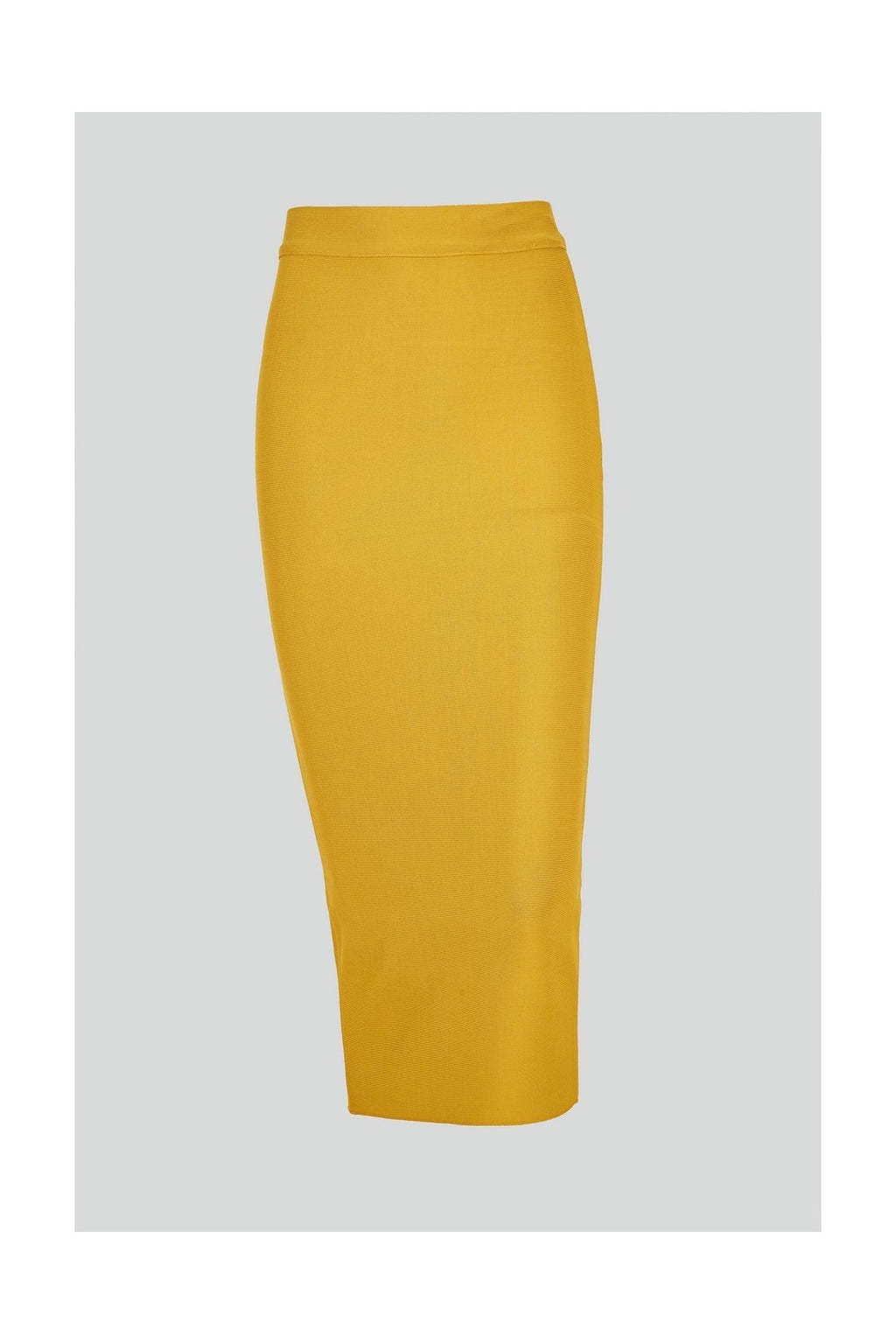 MIDAS GOLDEN YELLOW BANDAGE PENCIL SKIRT