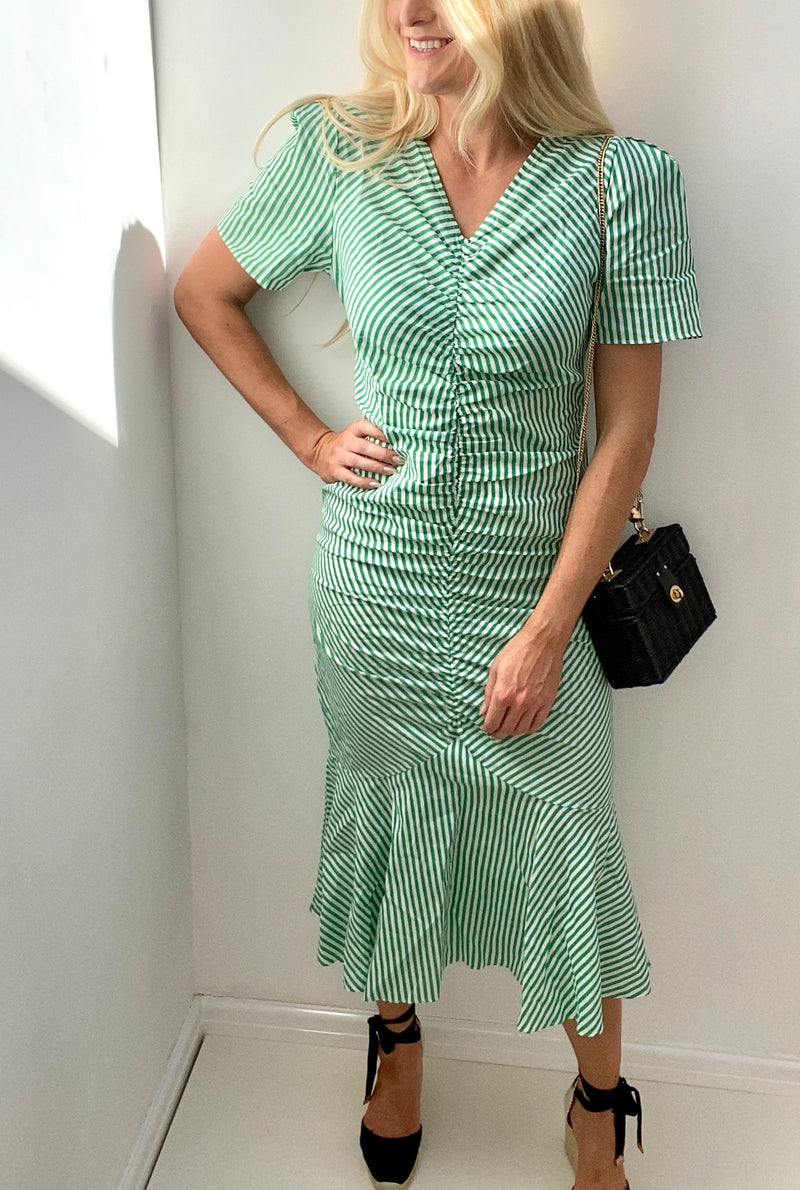 8TH SIGN SUMMER: LYRA STRIPE COTTON MIDI
