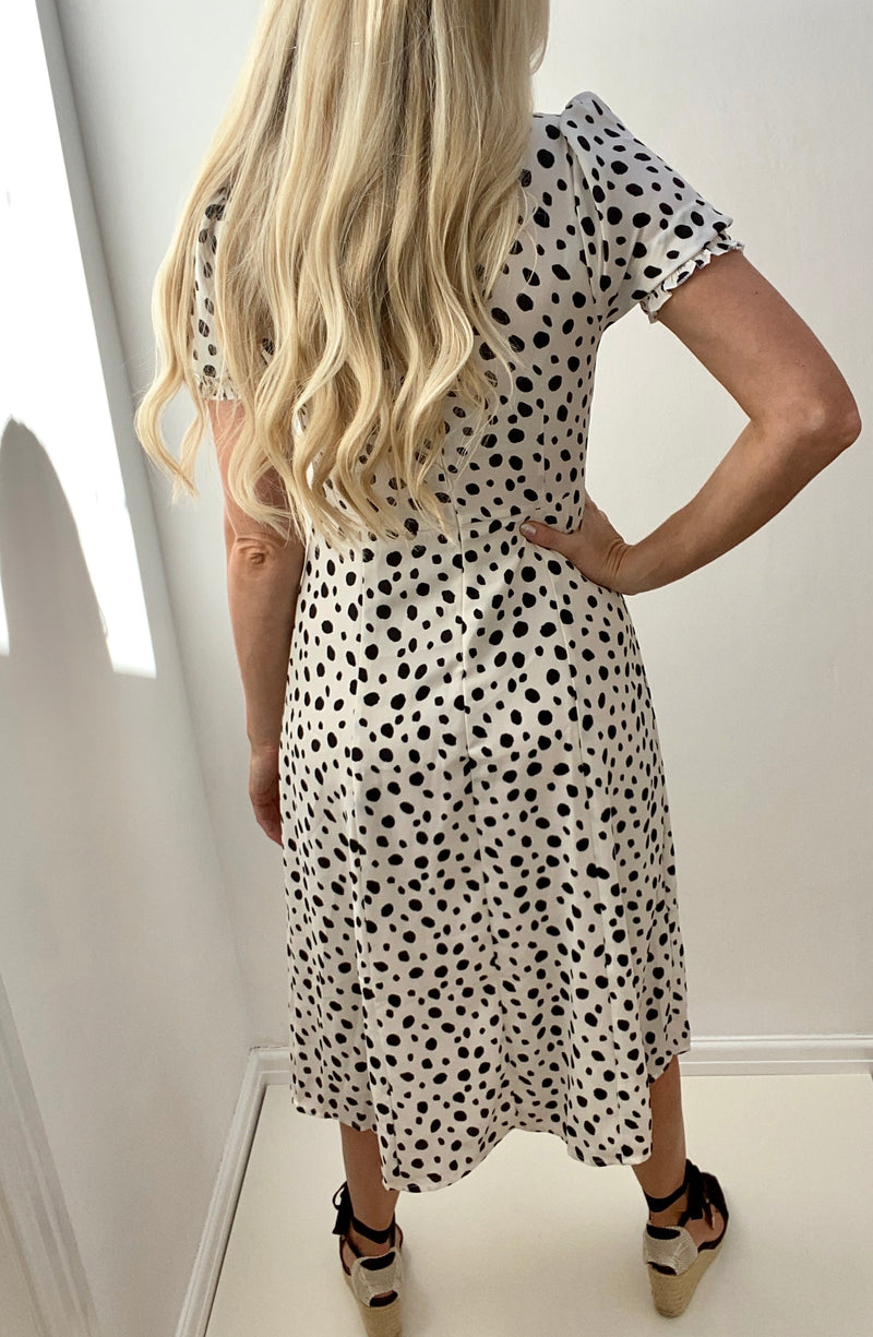 WILLOW PUFF SLEEVE SWEETHEART MIDI