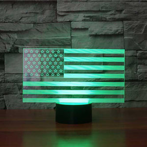 American Flag 3D Optical Illusion Lamp 7 Colors
