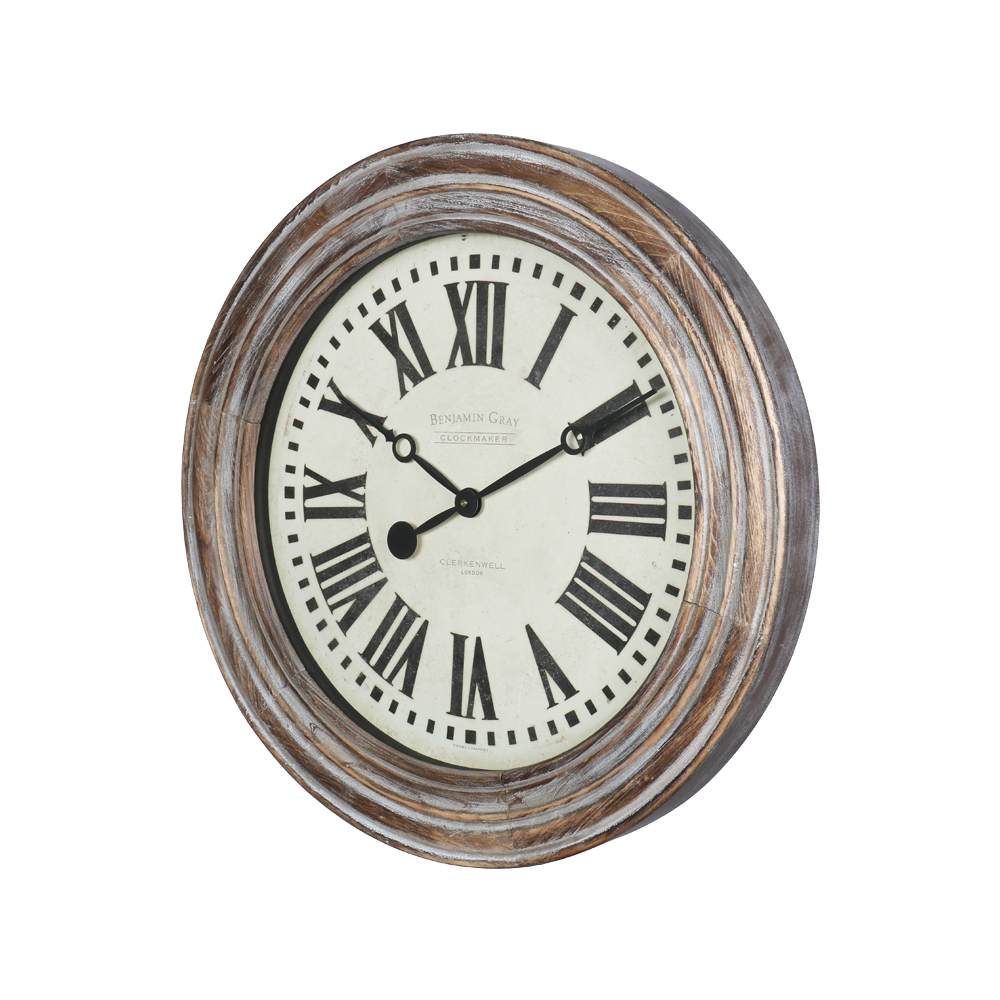 Benjamin Clock Grey Wood - Pendulux