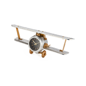 Biplane Table Clock - Pendulux