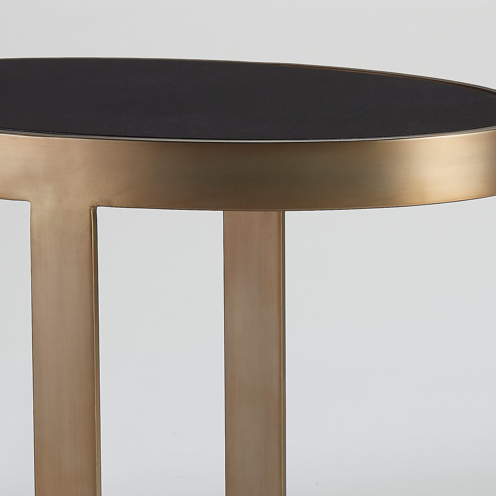 Ellipse Accent Table Antique Gold - Pendulux
