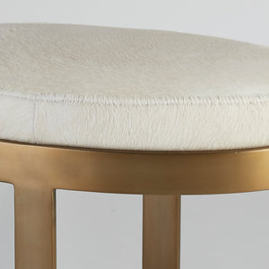 Ellipse Bench Ivory Antique Gold - Pendulux
