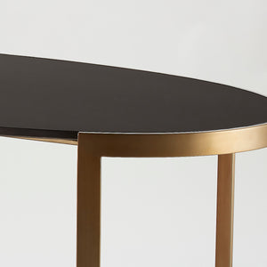 Ellipse Writing Desk Antique Gold - Pendulux