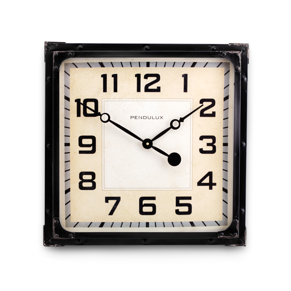 Gas Station Clock Black
