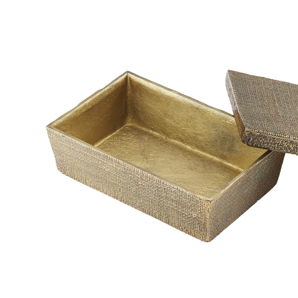 Hemp Box Small Antique Brass - Pendulux