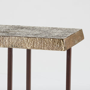 Hemp Accent Table Antique Brass - Pendulux