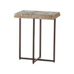 Hemp Accent Table Antique Brass