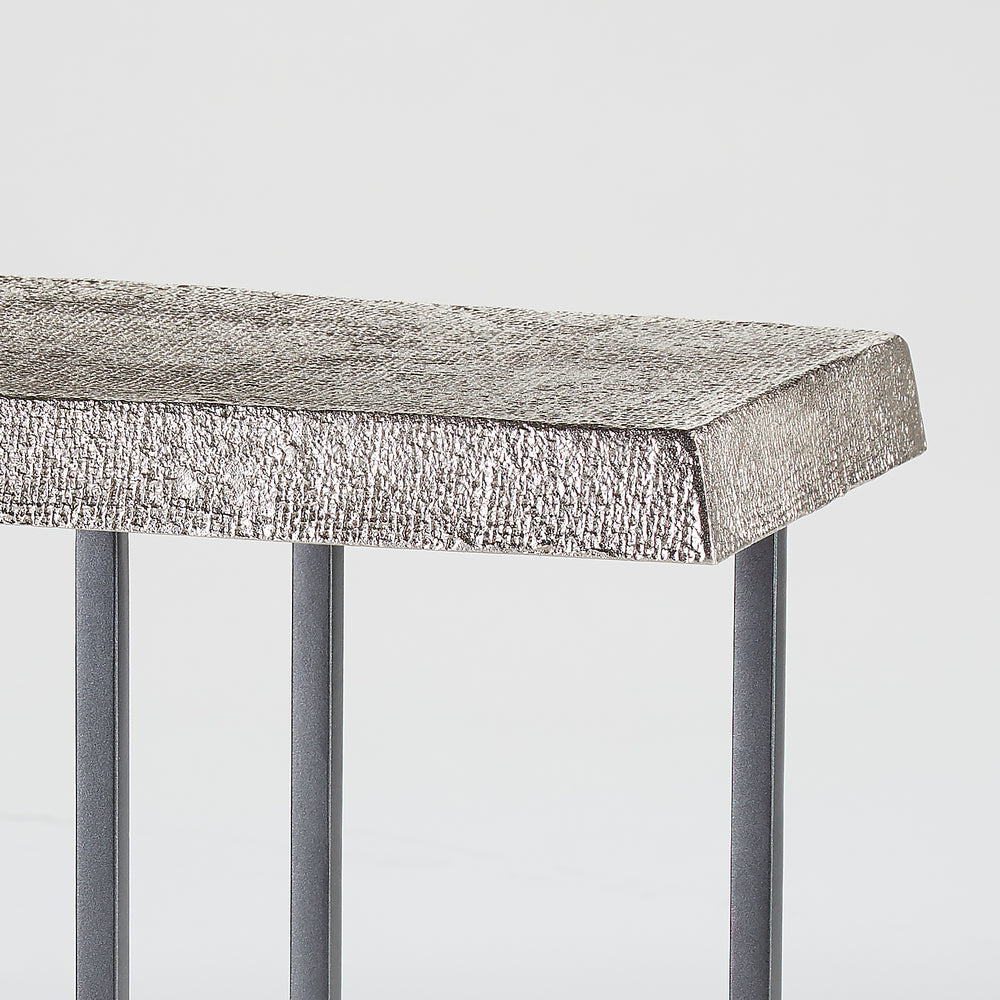 Hemp Accent Table Antique Nickel
