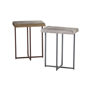 Hemp Accent Table Antique Nickel - Pendulux
