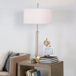 Hudson Table Lamp Antique Brass - Pendulux