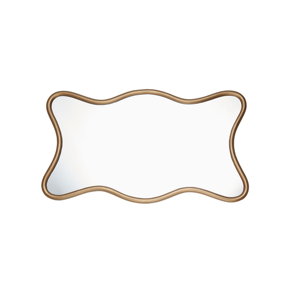 Milano Hall Mirror Antique Brass