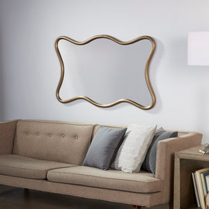 Milano Hall Mirror Antique Brass - Pendulux