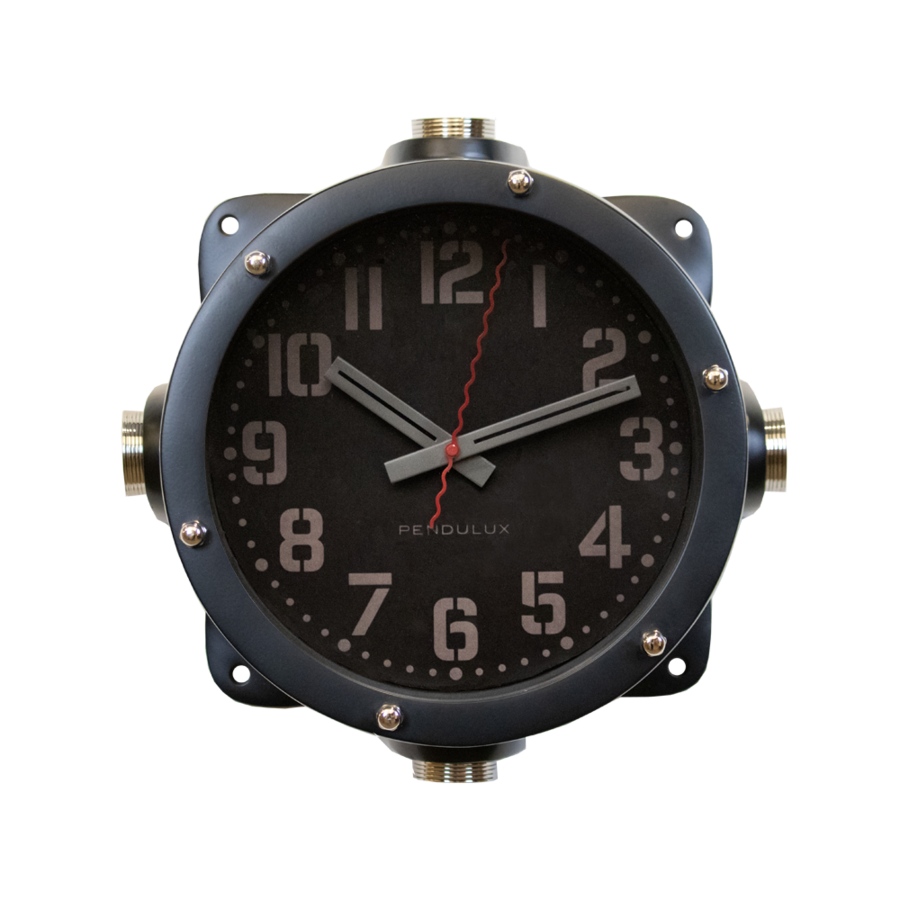 Navy Master Clock Black