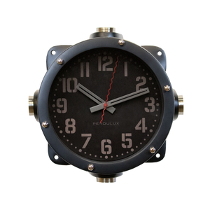 Navy Master Clock Black - Pendulux
