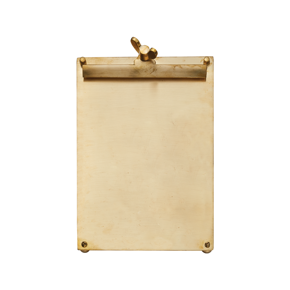 Scribner Notepad Brass Large