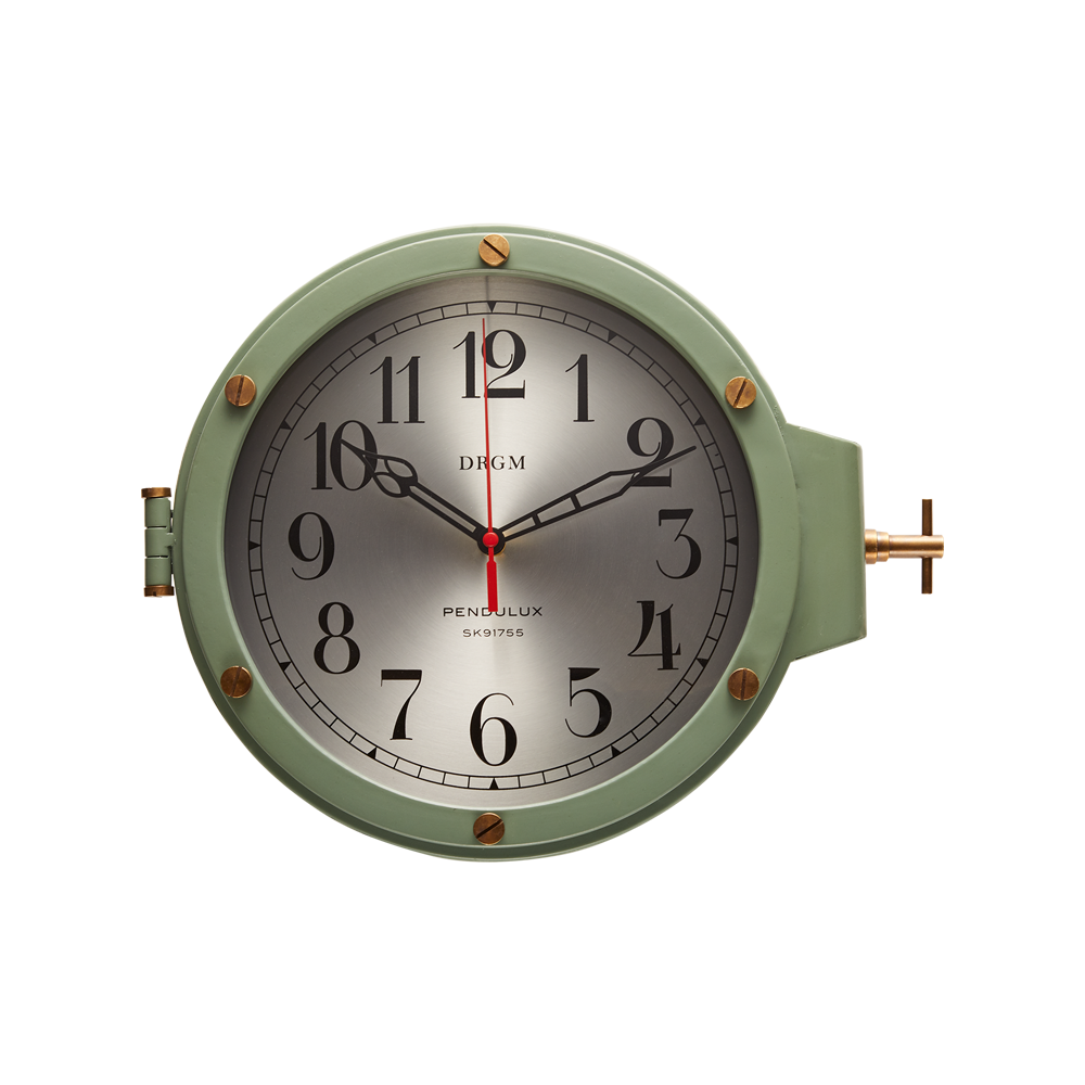 U-Boat Wall Clock Green