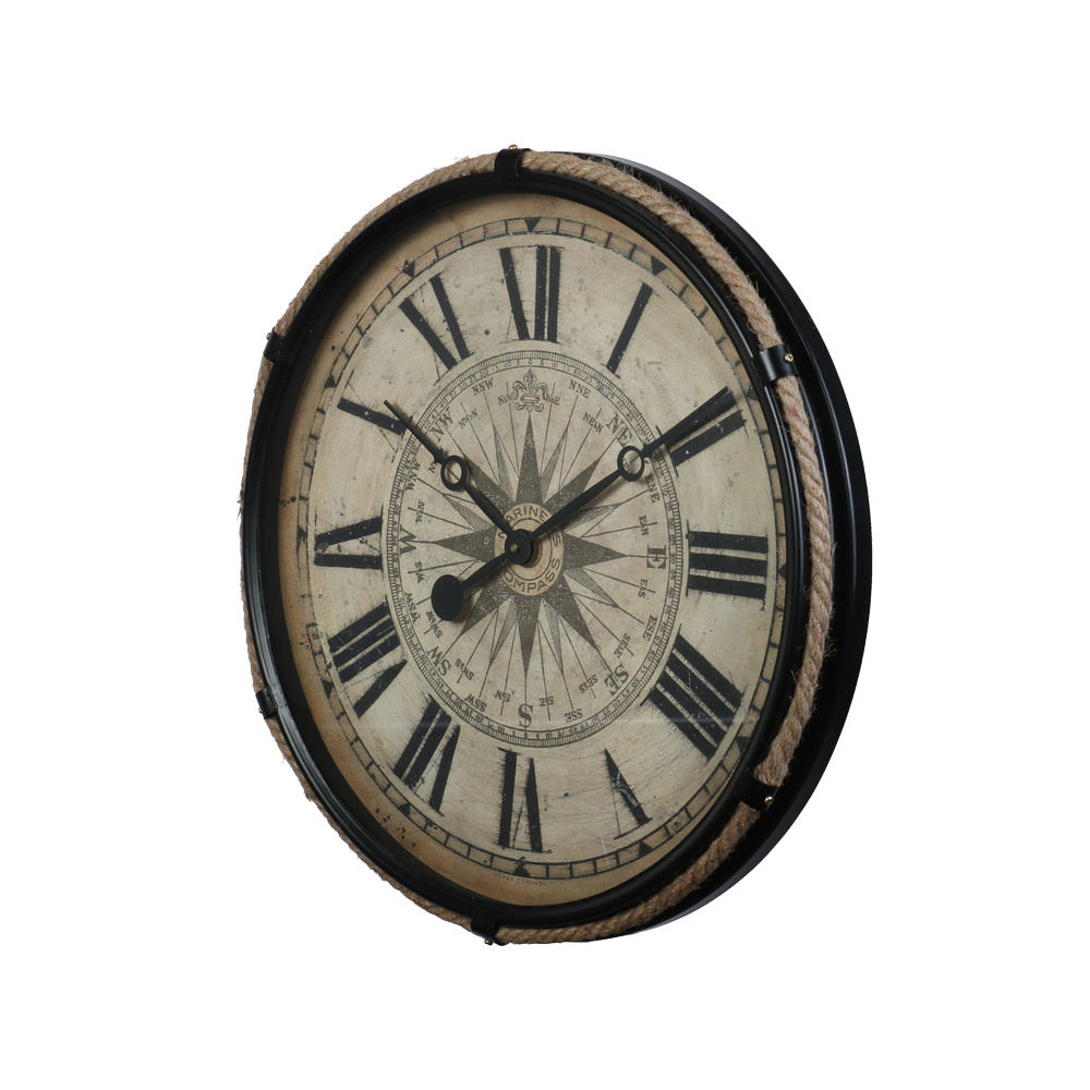 Compass Clock Large Black - Pendulux