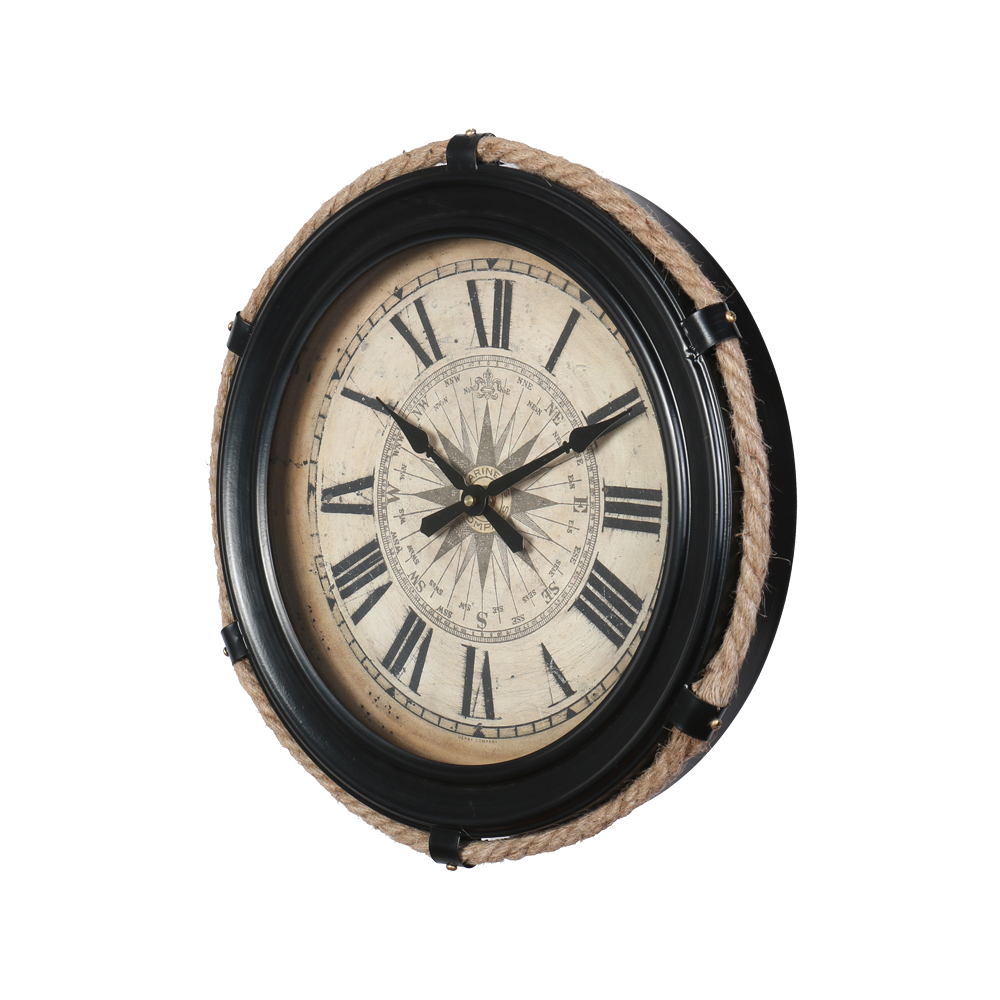 Compass Clock Small Black - Pendulux