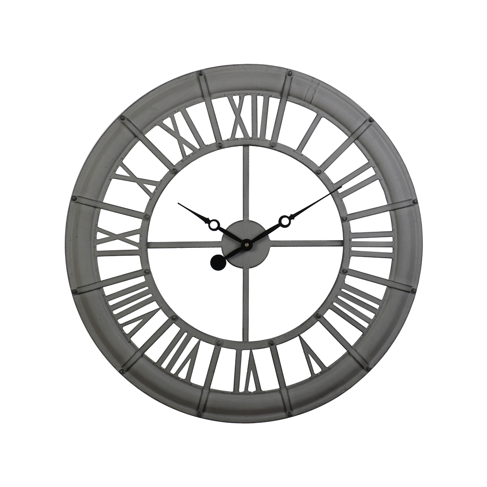 Shilling Clock Grey