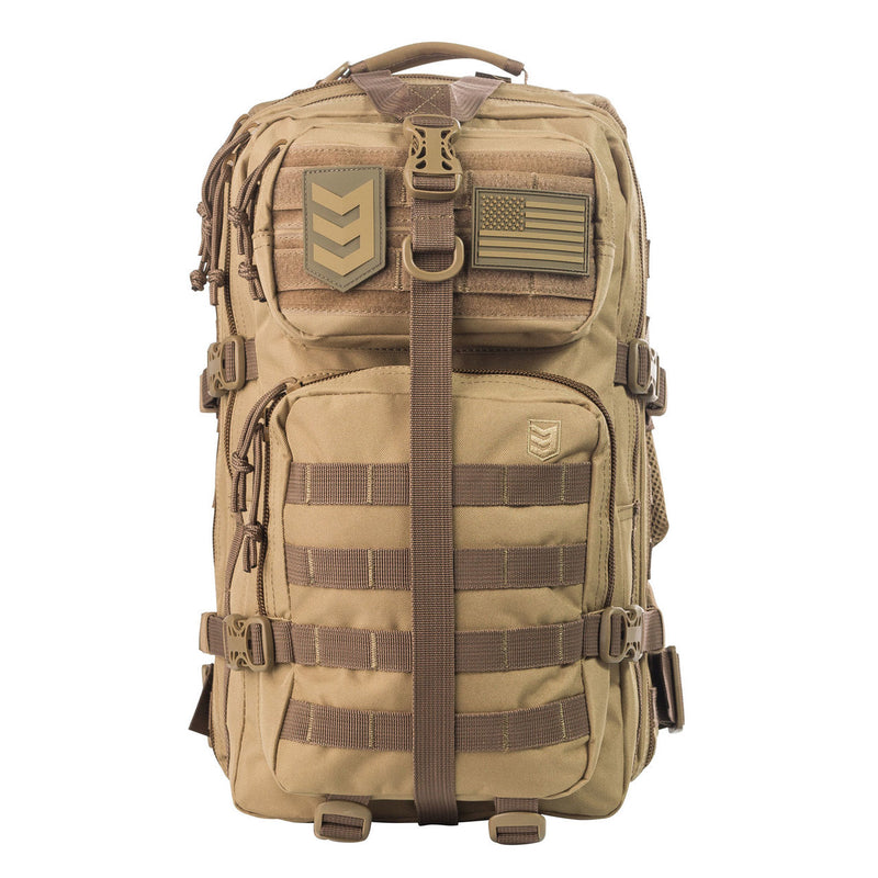 VELOX II TACTICAL ASSAULT PACK BLACK COYOTE TAN