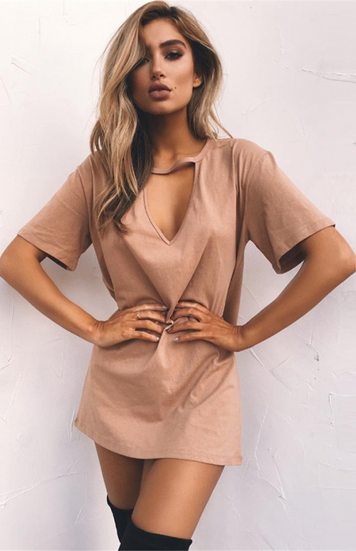 loose short t-shirt dress