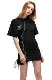 black short tee dress